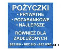 Pozyczki Pozabankowe Bez Baz i Opłat,Nawet Dla Osób Zadłużonych i z Komornikiem.Cała Polska